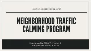 Neighborhood Traffic Calming Program
